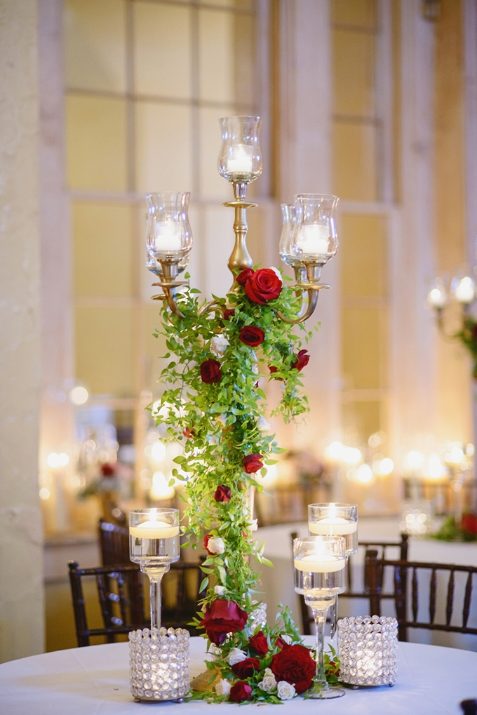 glam red centerpieces   Greer G Photography   Glamour & Grace