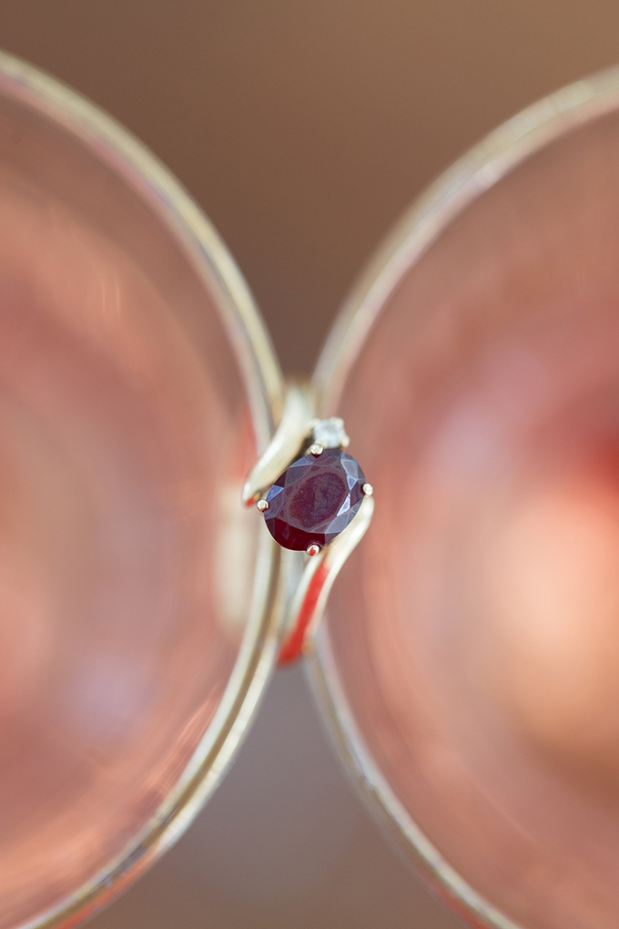 heirloom garnet ring | Lindsay Fauver Photography | Glamour & Grace