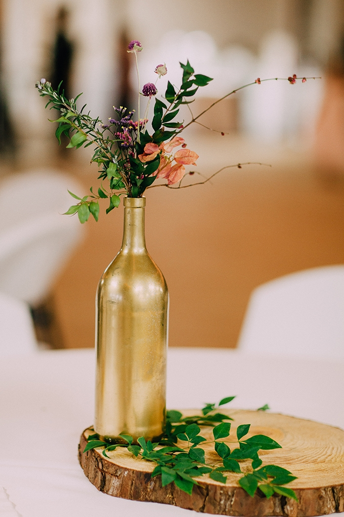 simple DIY centerpiece | Kristen Curette Photography | Glamour & Grace