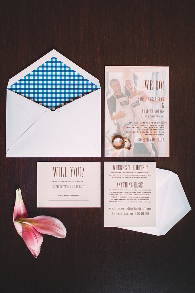DIY summer camp wedding  invitation   Jamie Mercurio Photography   Glamour & Grace