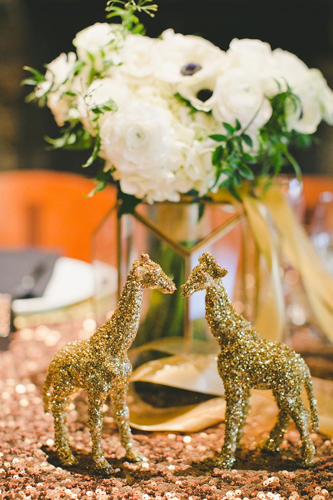 Black and Gold Glitter Wedding