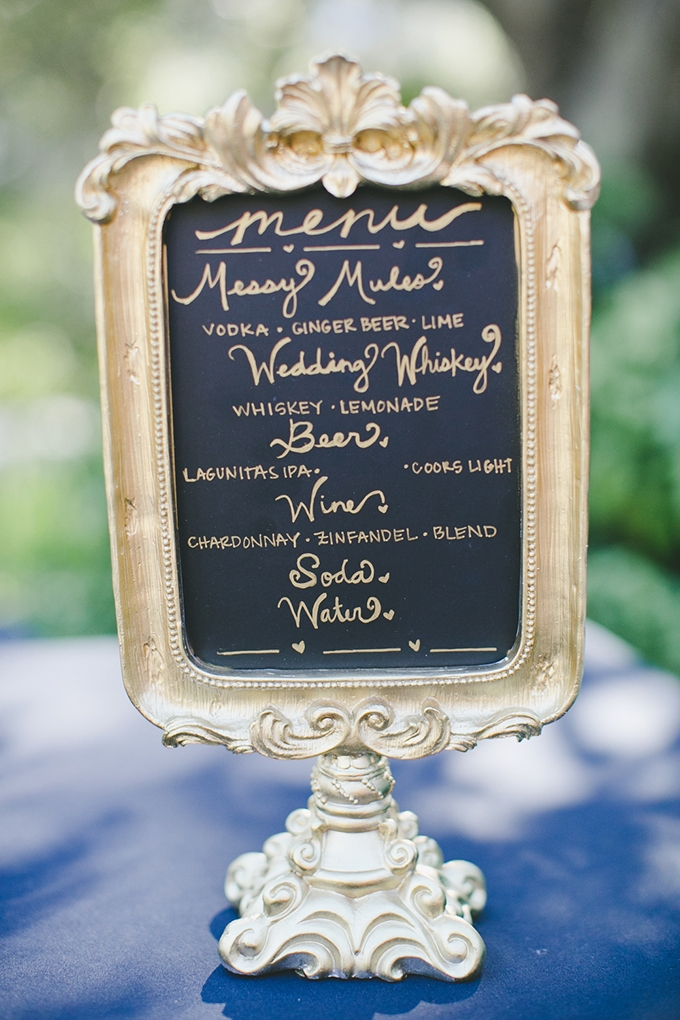 bar menu | onelove photography | Glamour & Grace