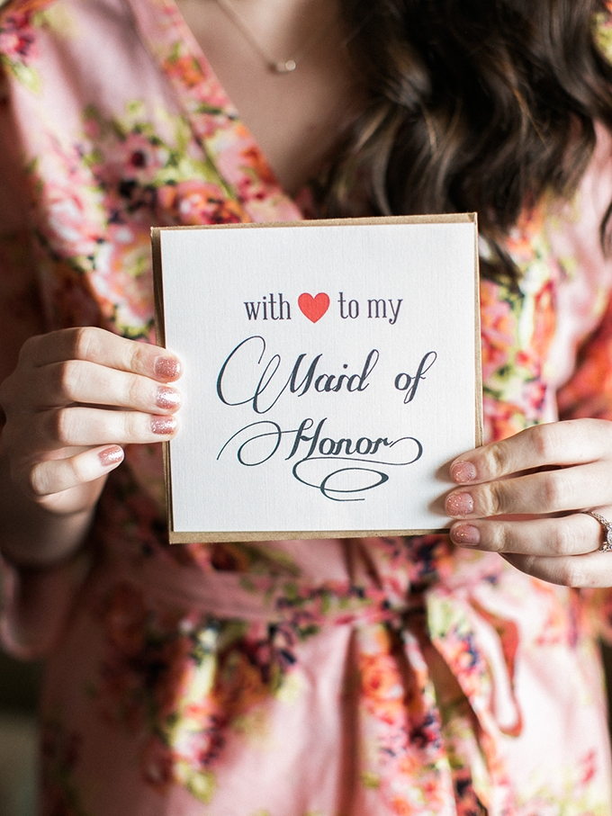 maid of honor card | Rachel Solomon Photography | Glamour & Grace