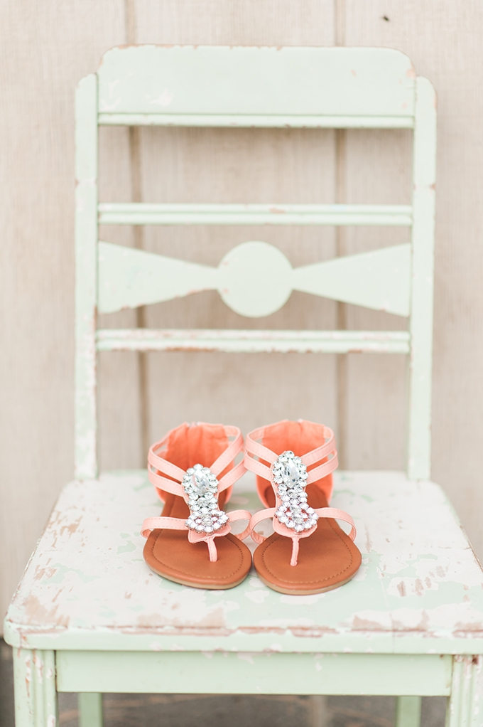 peach sandals | Christina Forbes Photography | Glamour & Grace