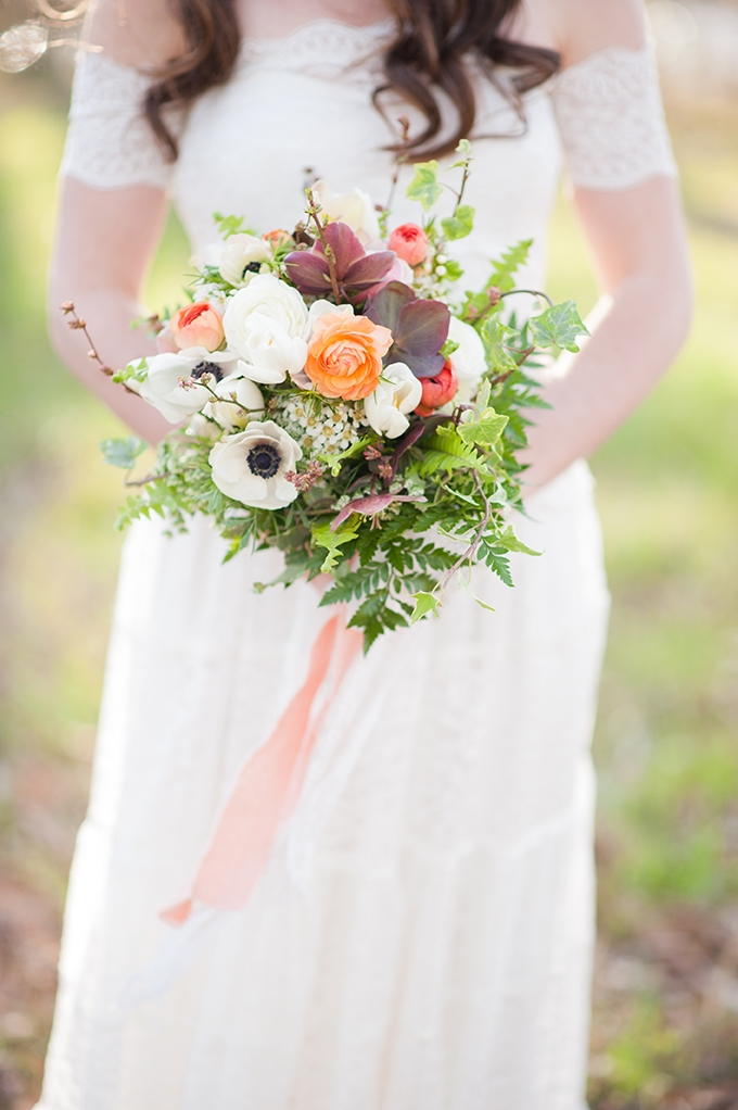 orange bouquet | Christina Forbes Photography | Glamour & Grace