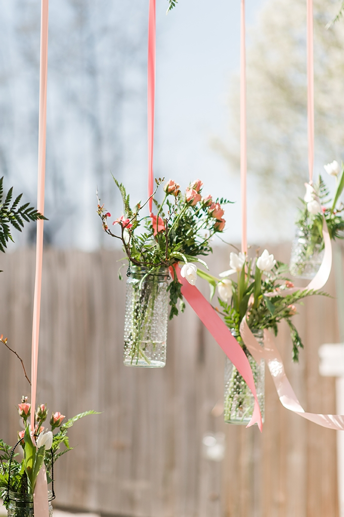 hanging vases | Christina Forbes Photography | Glamour & Grace