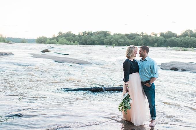 dreamy riverside engagement | Kim Stockwell Photography | Glamour & Grace