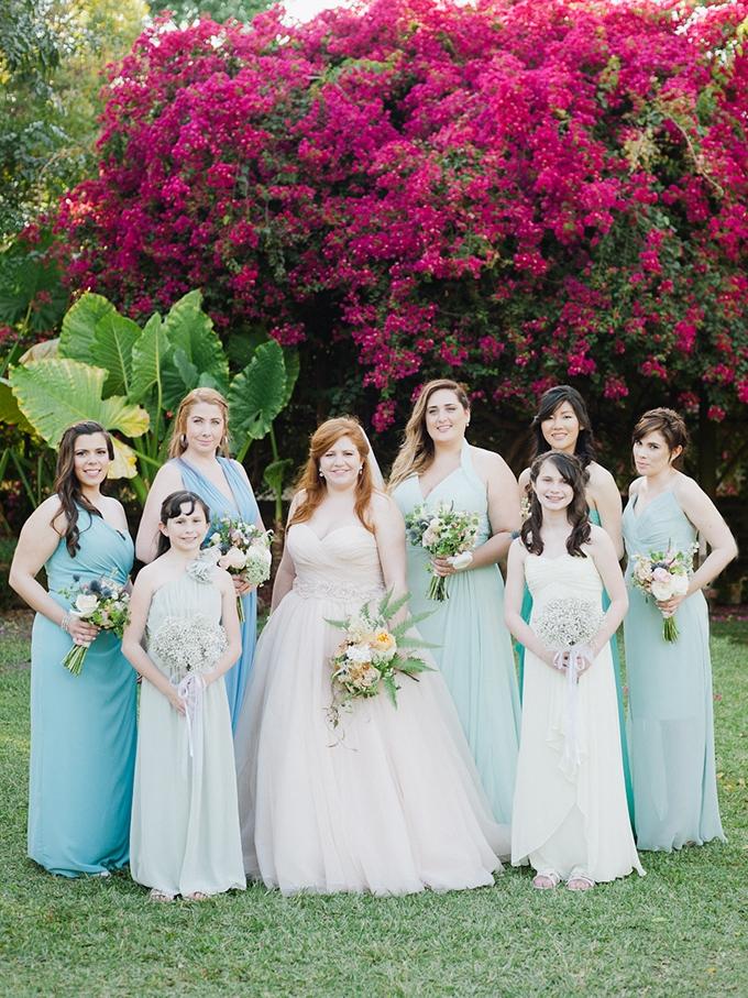 blue bridesmaids | Merari Photography | Glamour & Grace