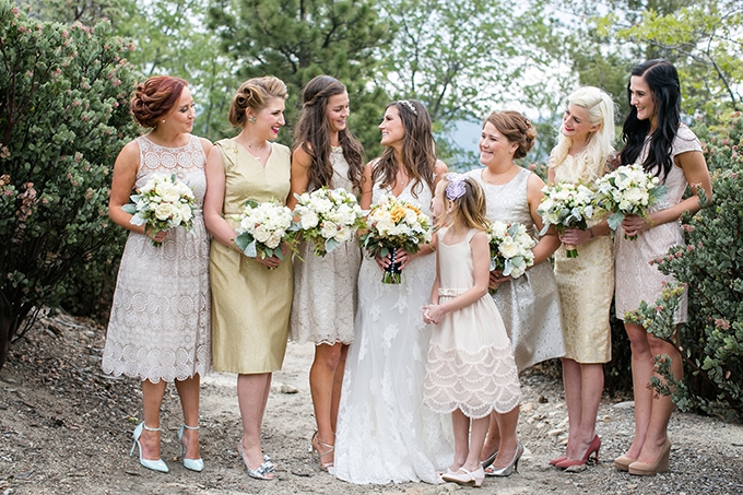 yellow and cream bridesmaids | Anna Marks Photography | Glamour & Grace