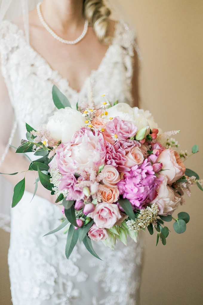 romantic pink bouquet | Sara Lynn Photographic | Glamour & Grace
