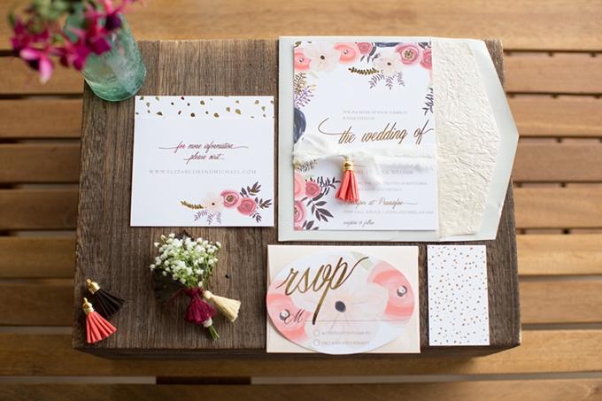 floral invitation | Marissa Cribbs Photography | Glamour & Grace
