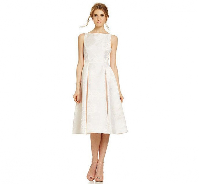 tea length dress | Adrianna Papell