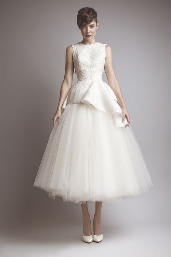Audrey Hepburn Wedding Dress Honeypie Boutique Tea Length Ashi Studio