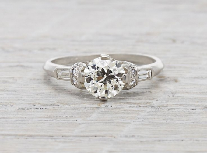 Vintage Platinum Wedding Rings 65 Simple Erstwhile Jewelry Trumpet u