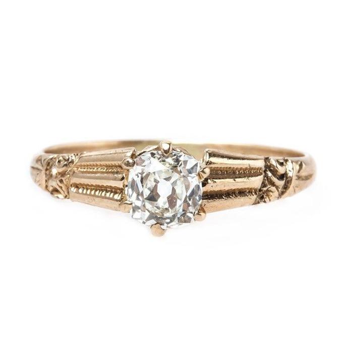 vintage engagement ring   Glamour & Grace