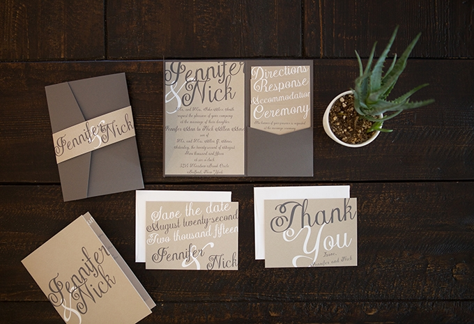 wedding invitations from Basic Invite | Glamour & Grace