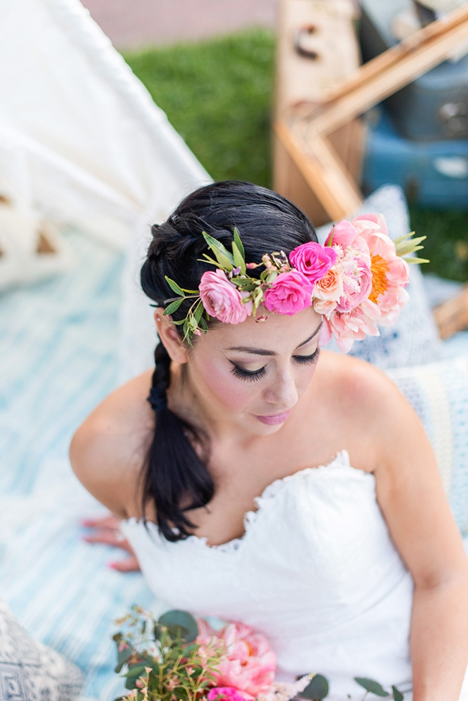 floral crown | Tina Joiner Photography | Glamour & Grace