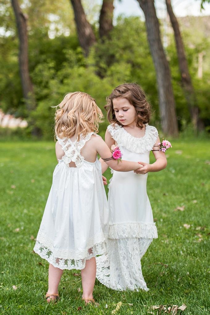 boho flower girls | Tina Joiner Photography | Glamour & Grace