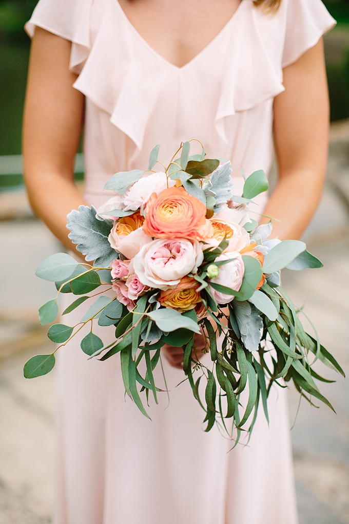pink bridesmaid bouquet | Michele Shore Photography | Glamour & Grace