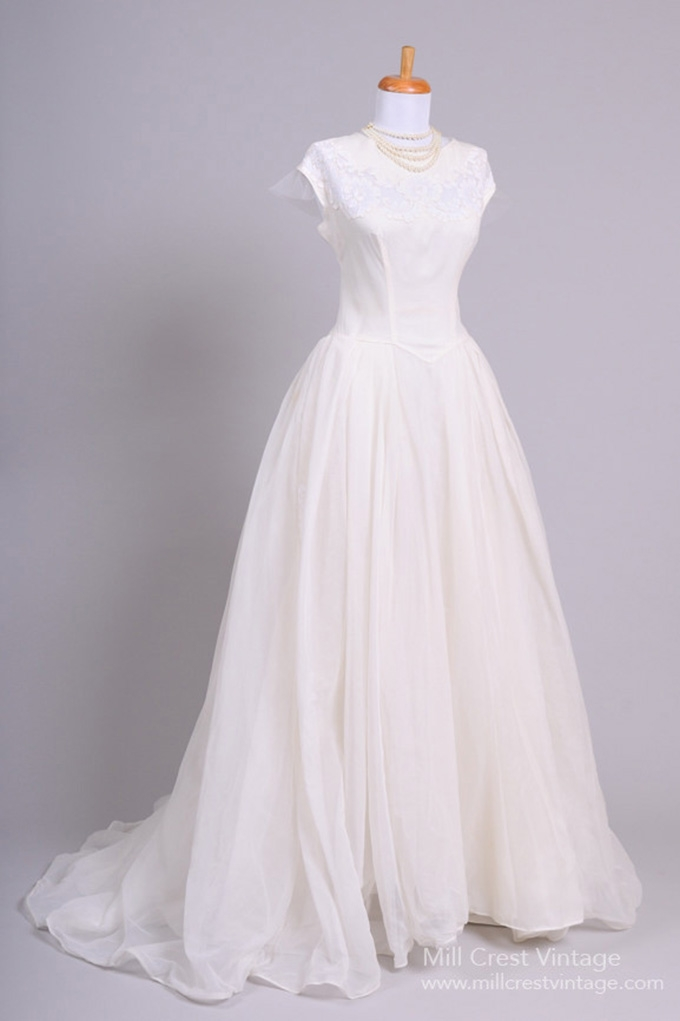 1950\'s Vintage Wedding Dresses | Glamour & Grace