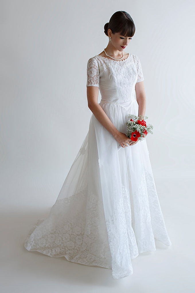 Vintage 1950 S Wedding Dresses Glamour Grace