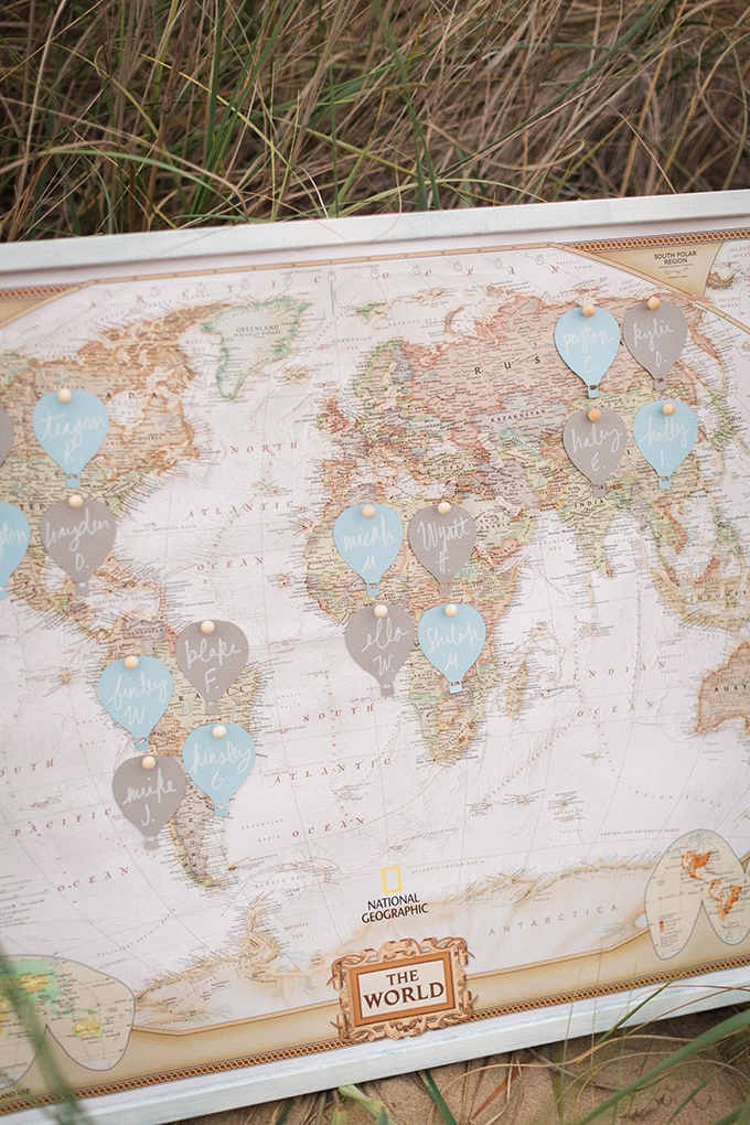 map escort cards | Stephanie Michelle Photography | Glamour & Grace