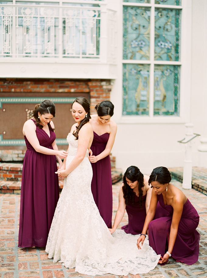Marsala dress for wedding