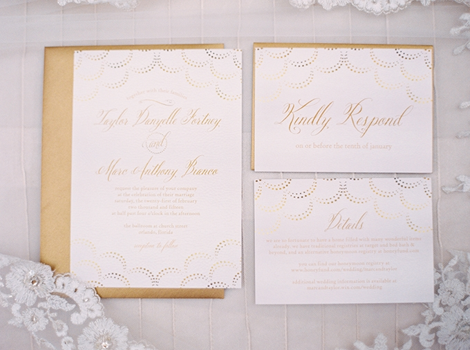 gold invitations | Best Photography | Glamour & Grace