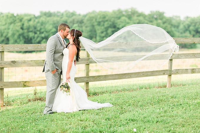 romantic DIY farm wedding | Kirstyn Marie Photography | Glamour & Grace