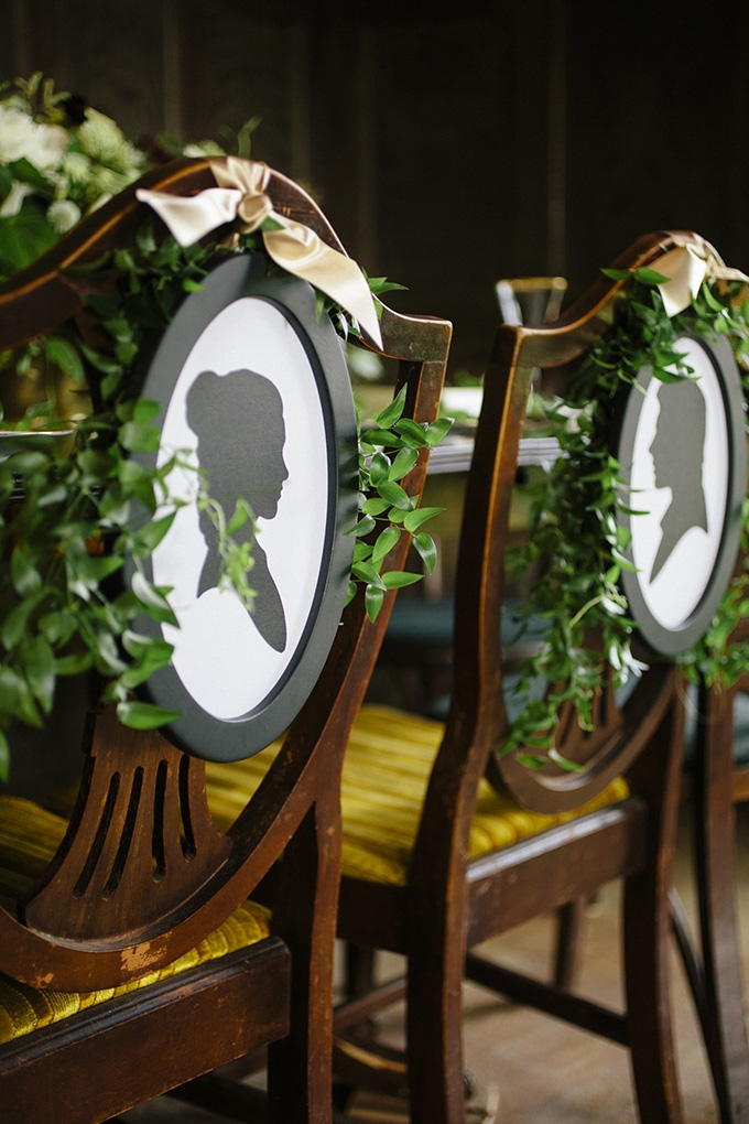 silhouette chair details | Kate Preftakes Photography | Glamour & Grace