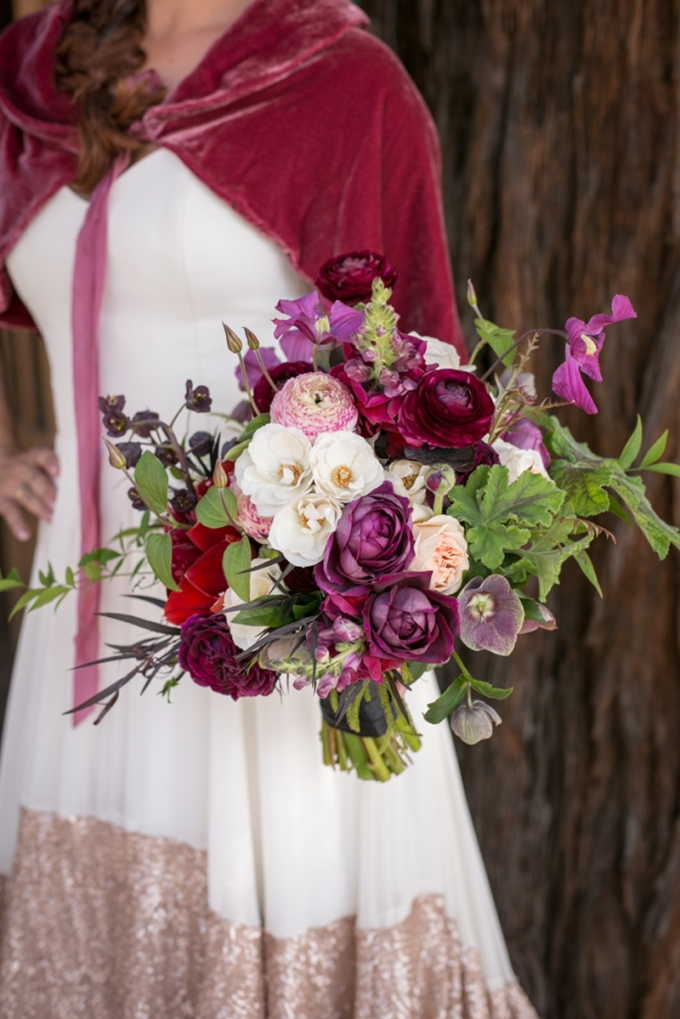 burgundy bouquet | Jessamyn Harris | Glamour & Grace