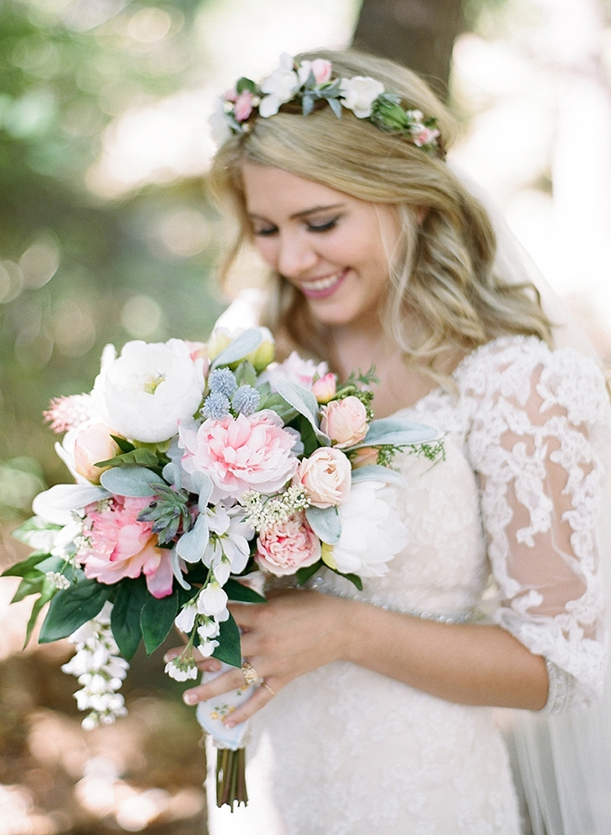 pastel bouquet | Magnolia Adam's Photography | Glamour & Grace