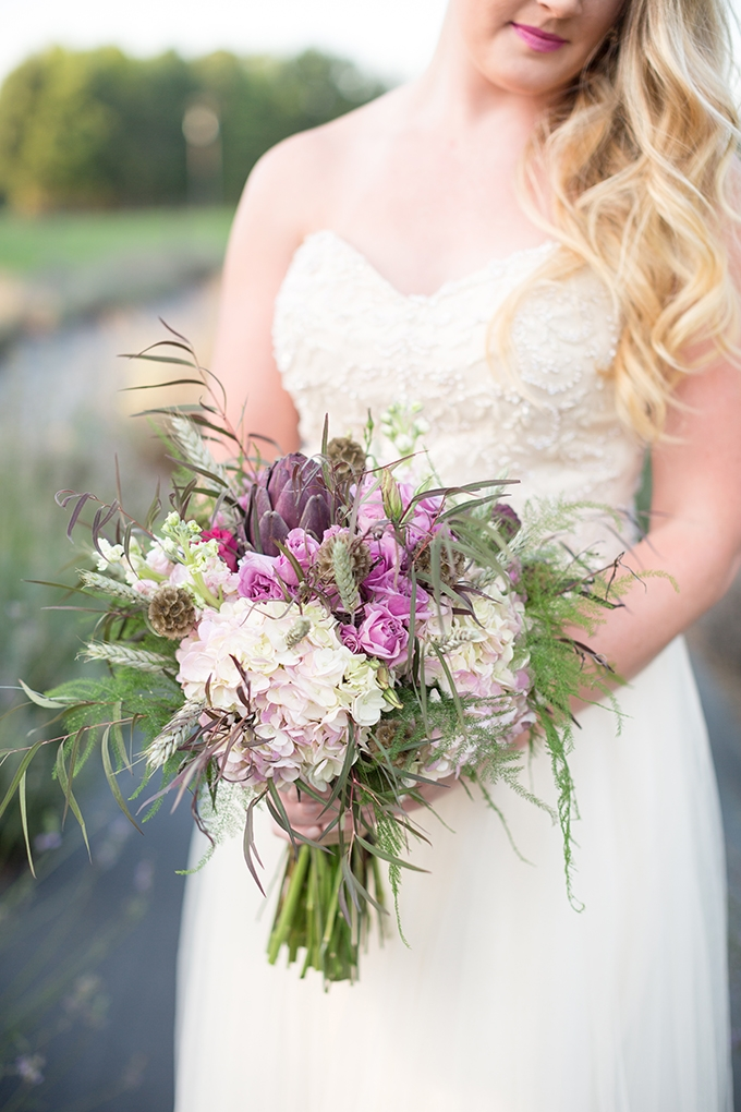 purple bouquet   Samantha Laffoon Photography   Glamour & Grace