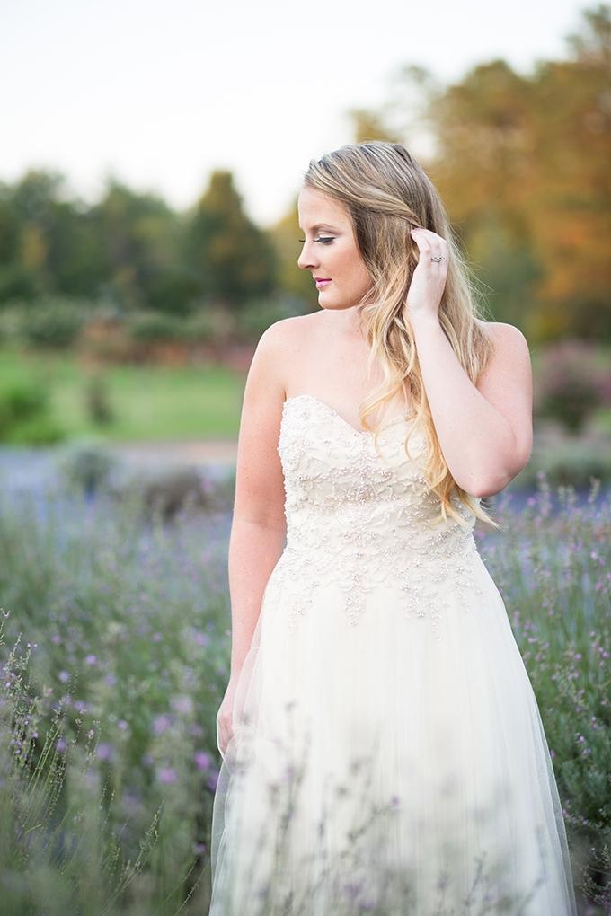lavender field bridal portraits   Samantha Laffoon Photography   Glamour & Grace