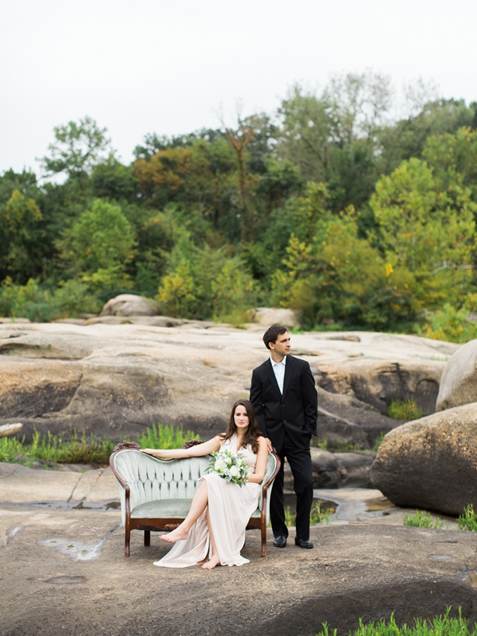 romantic riverside engagement | Carrie Coleman Photography | Glamour & Grace