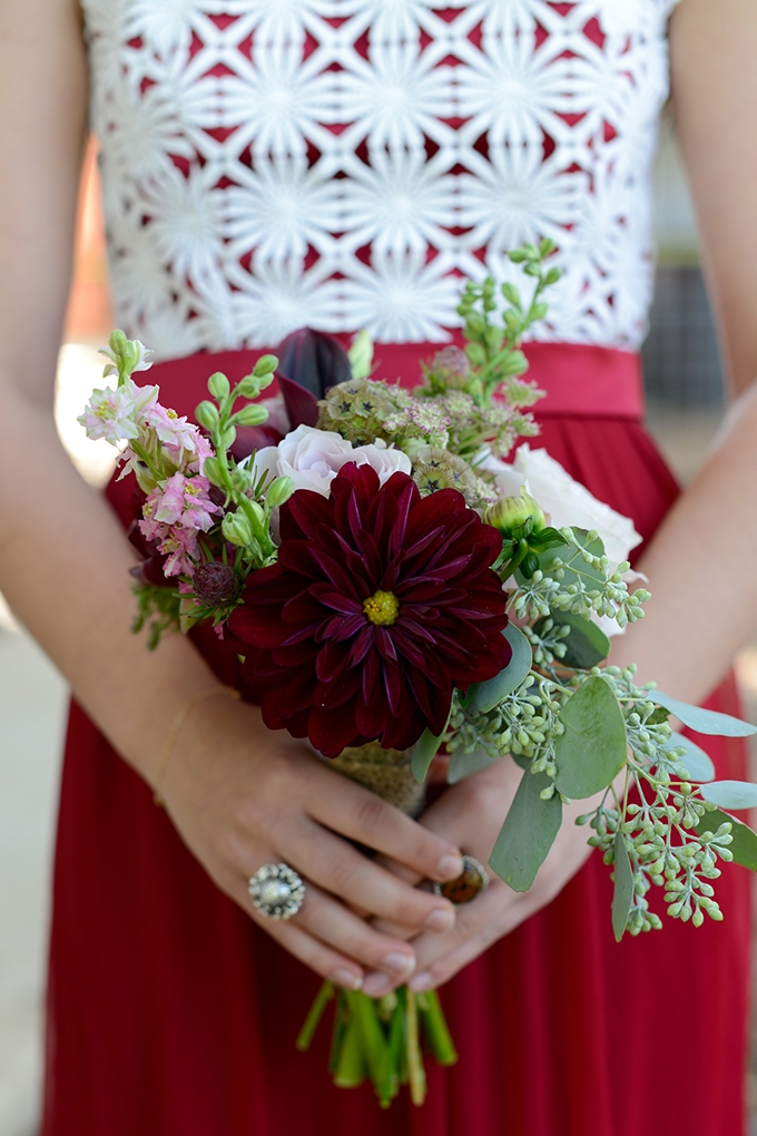 bridesmaid bouquet | Eureka Photography | Glamour & Grace