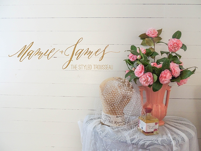 Mamie + James | The Styled Trousseau | Glamour & Grace