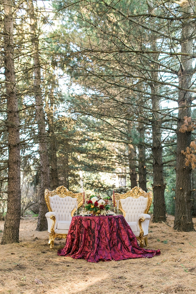 glam cranberry and gold wedding   Mandy Ford Photography   Glamour & Grace