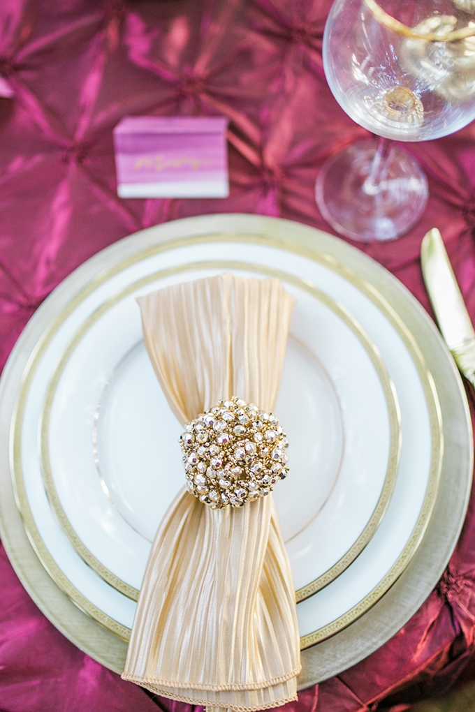 glam place setting | Mandy Ford Photography | Glamour & Grace