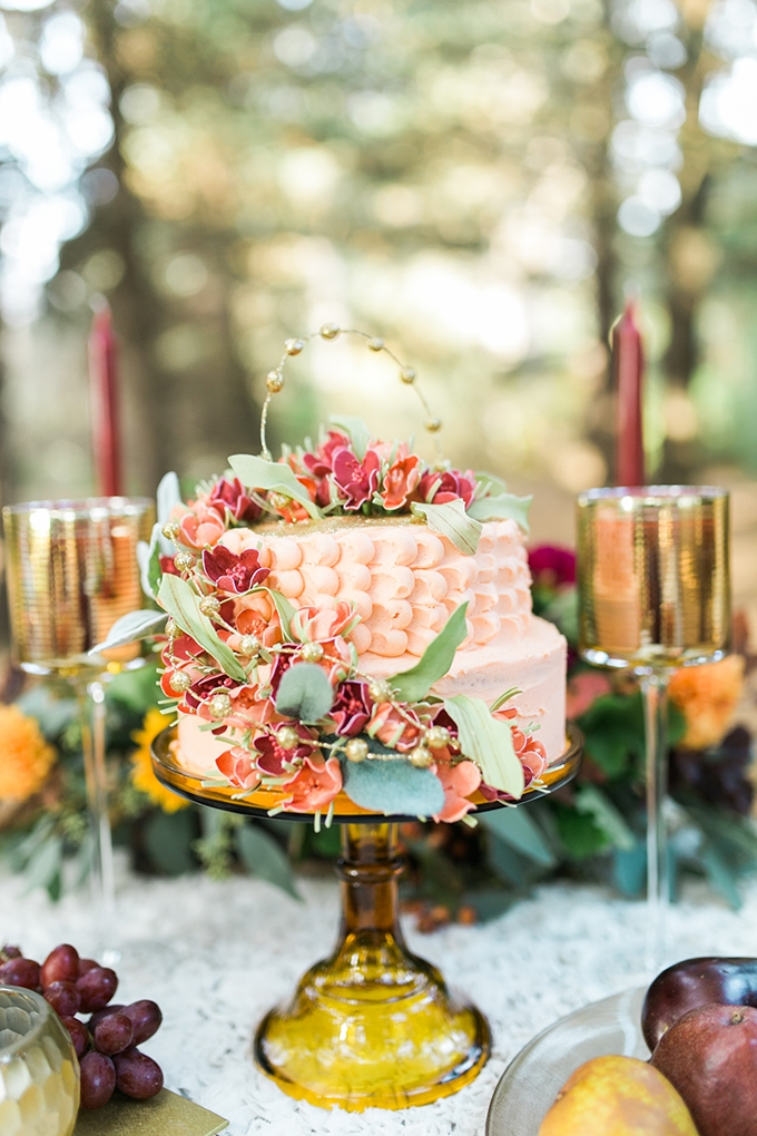 peach cake | Mandy Ford Photography | Glamour & Grace