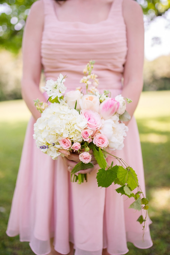 blush bridesmaids | Eliza Morrill Photography | Glamour & Grace