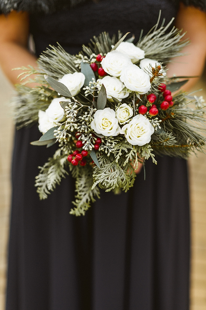 winter bouquet | Molly Jo Collection | Glamour & Grace