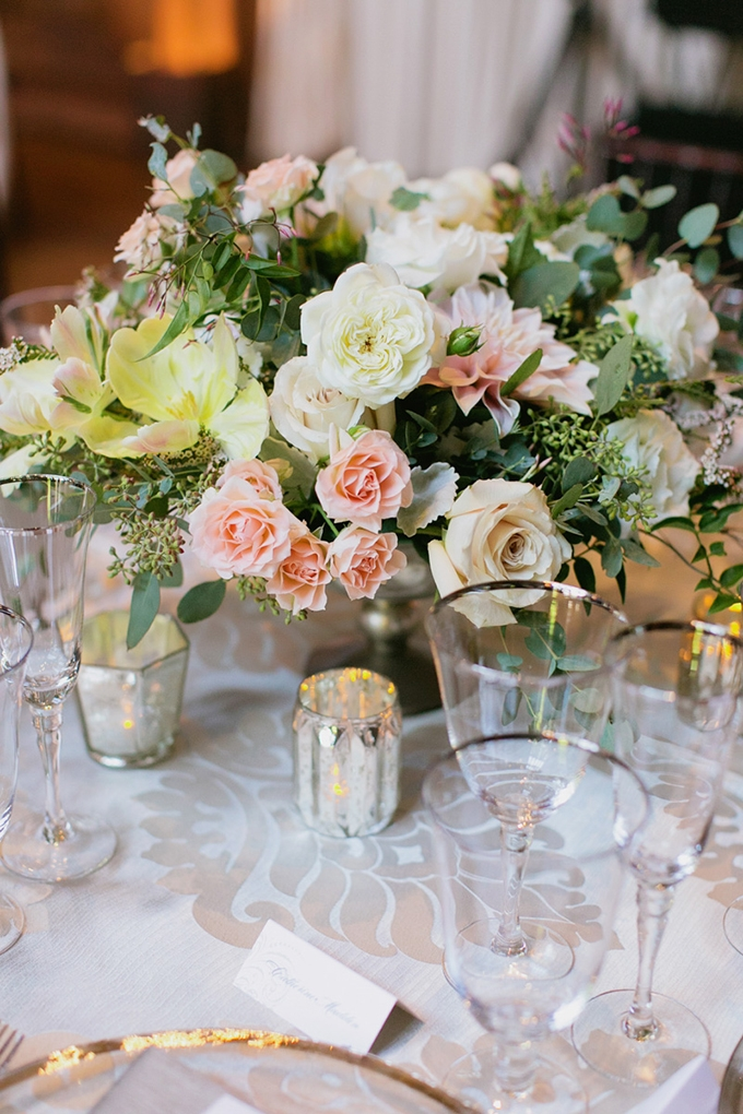 romantic centerpieces | Milou + Olin Photography | Glamour & Grace