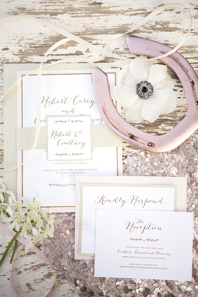 rustic glam invitation | KLK PHOTOGRAPHY | Glamour & Grace