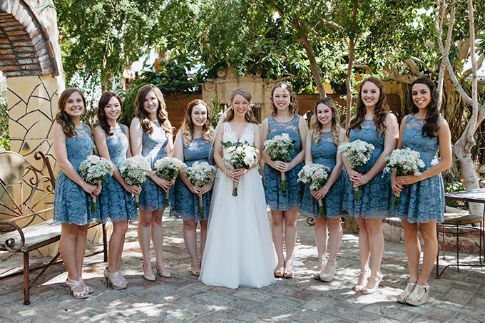 blue lace bridesmaids | Jay & Jess Photography | Glamour & Grace