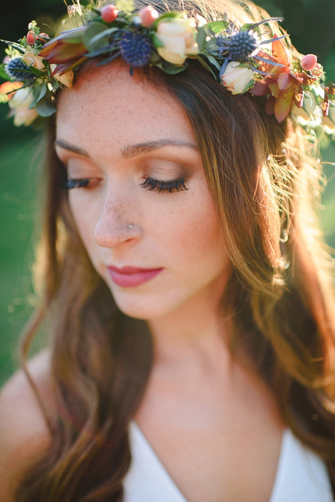 flower crown | Brittney Nestle Photo | Glamour & Grace