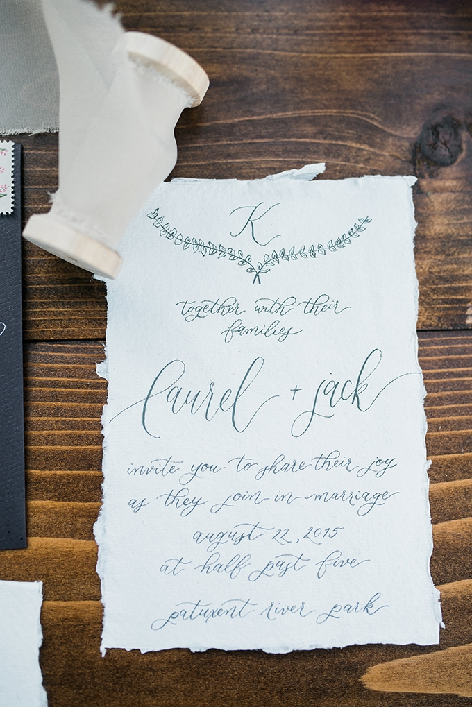 calligraphy invitation | Kimberly Florence Photography | Glamour & Grace