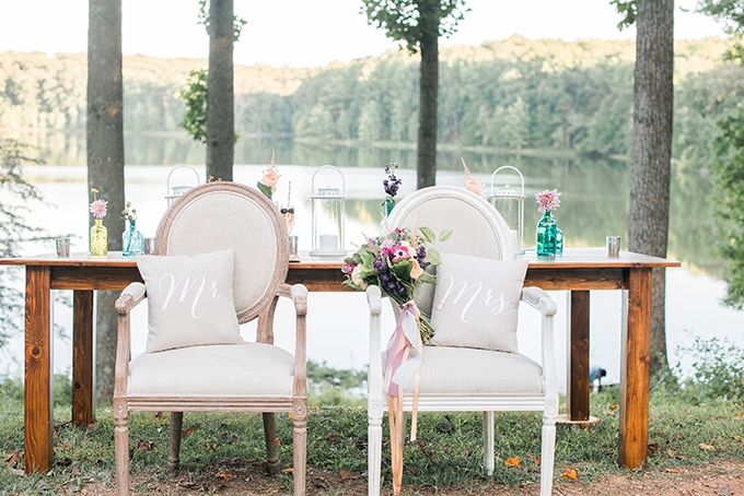 spring lakeside wedding inspiration | Kimberly Florence Photography | Glamour & Grace