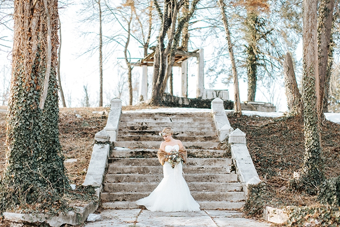 romantic winter bridals | Jenna Brianne Photography | Glamour & Grace