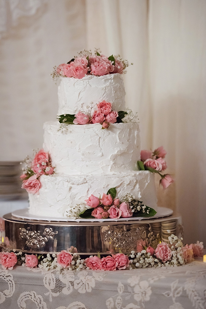 buttercream and rose cake | Summer Shea Photography | Glamour & Grace